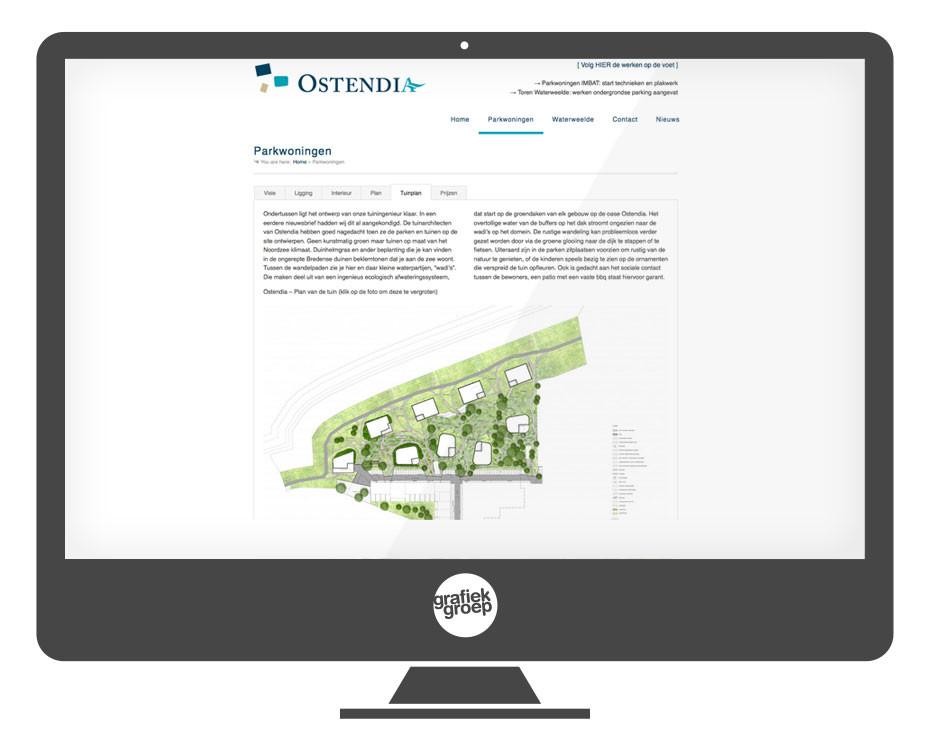 Website bouwproject aan de kust
